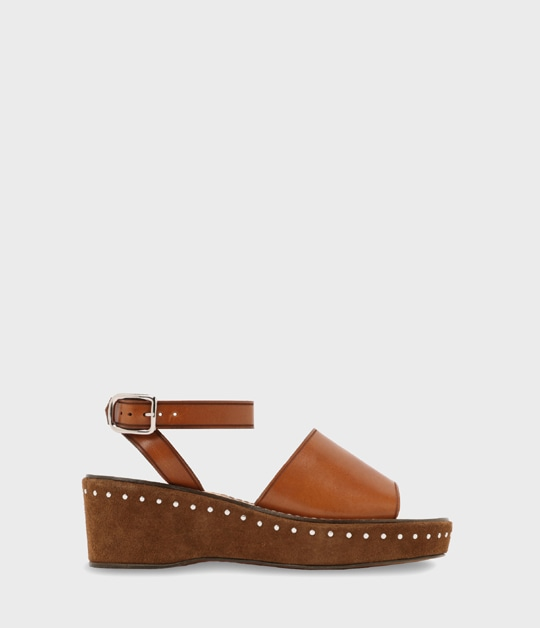 WEDGE SANDAL WITH STUDS